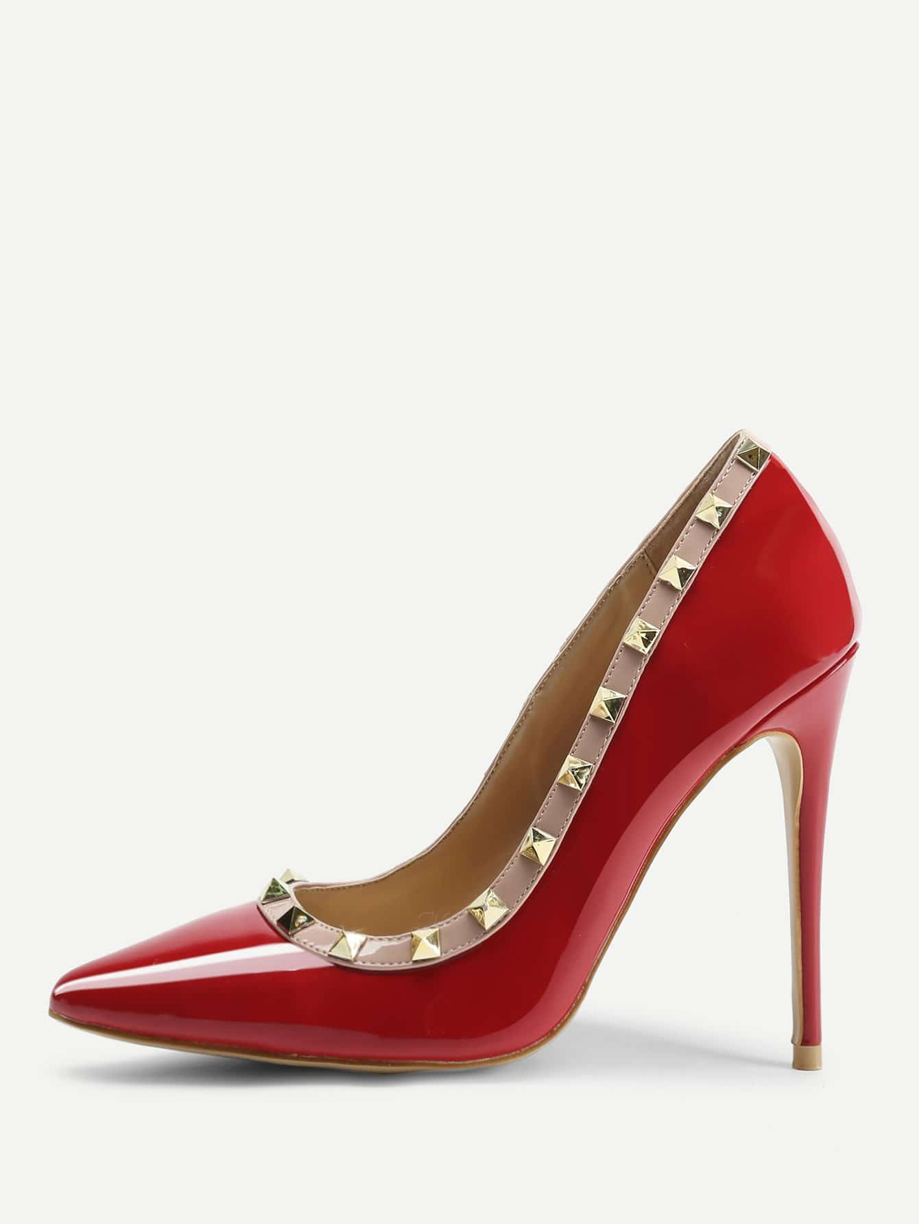 Rockstud Detail High Heel Pumps запонки mitya veselkov эйфелева башня