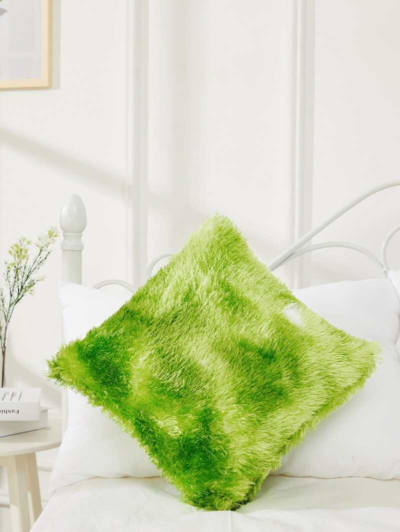 Fluffy Pillow Case Cover, Green