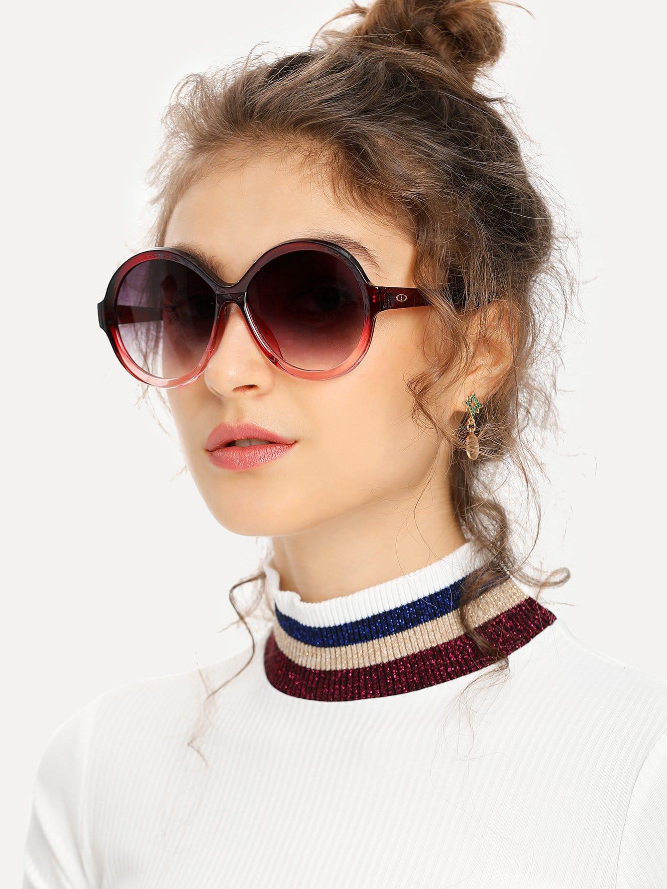 Two Tone Frame Round Lens Sunglasses аппарат для маникюра и педикюра ves vem 104