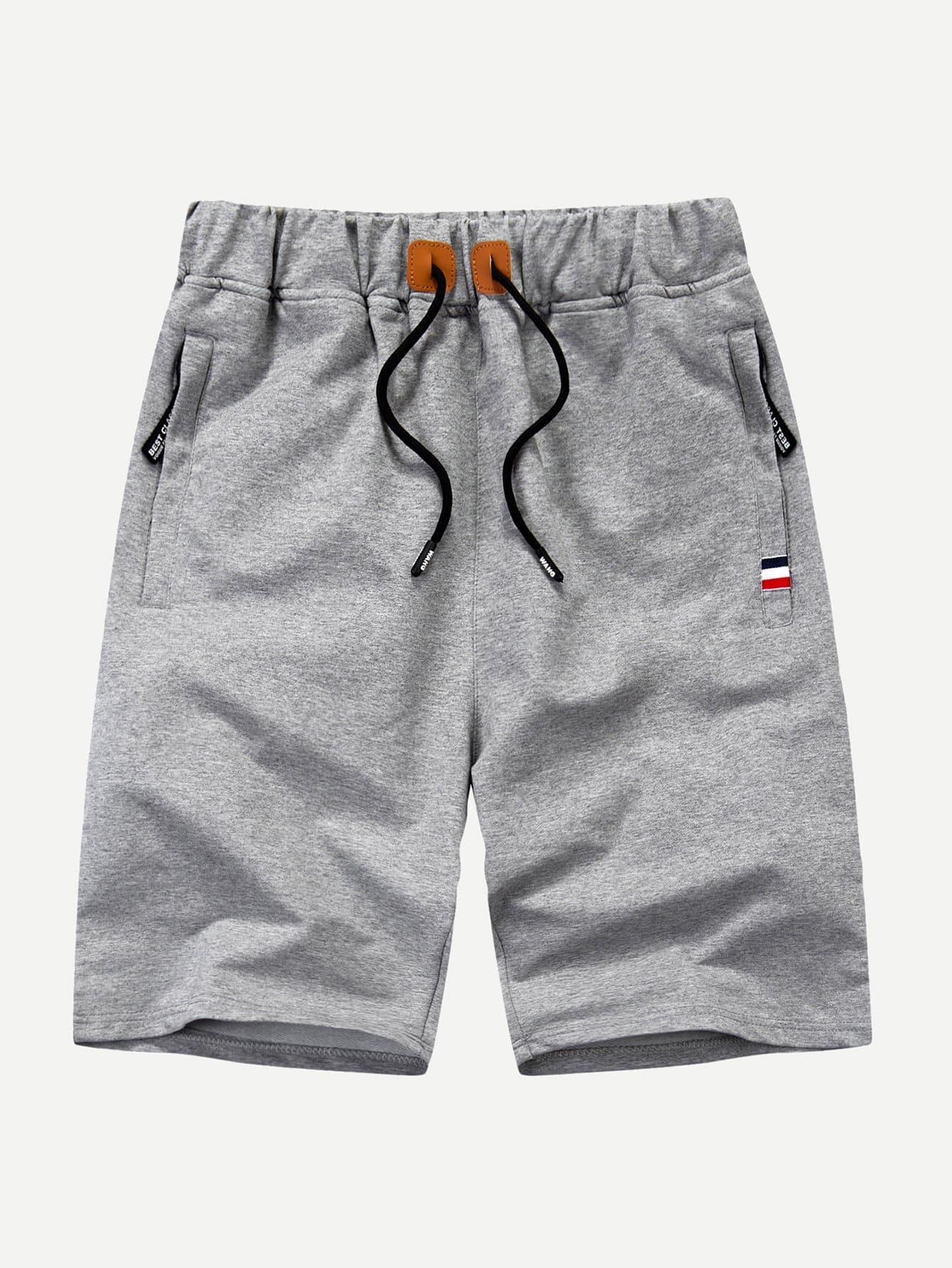 Men Cut And Sew Panel Drawstring Shorts men cut and sew panel beach shorts