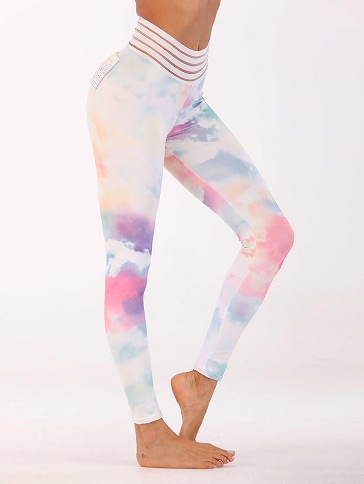 Watercolor Print Leggings watercolor print leggings