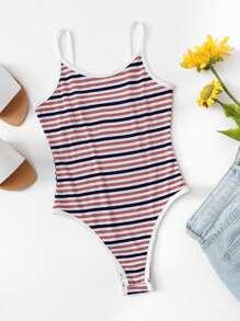 Striped Cami Bodysuit