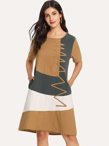 Cut And Sew Hidden Pocket Dress
