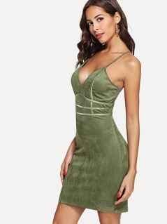 Solid Form Fitting Cami Dress