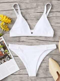 Triangle Top With Cut Out Bikini Set