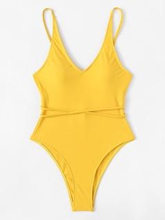 Crisscross Strap Detail Swimsuit