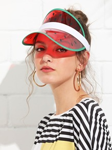 Watermelon Pattern Visor Hat