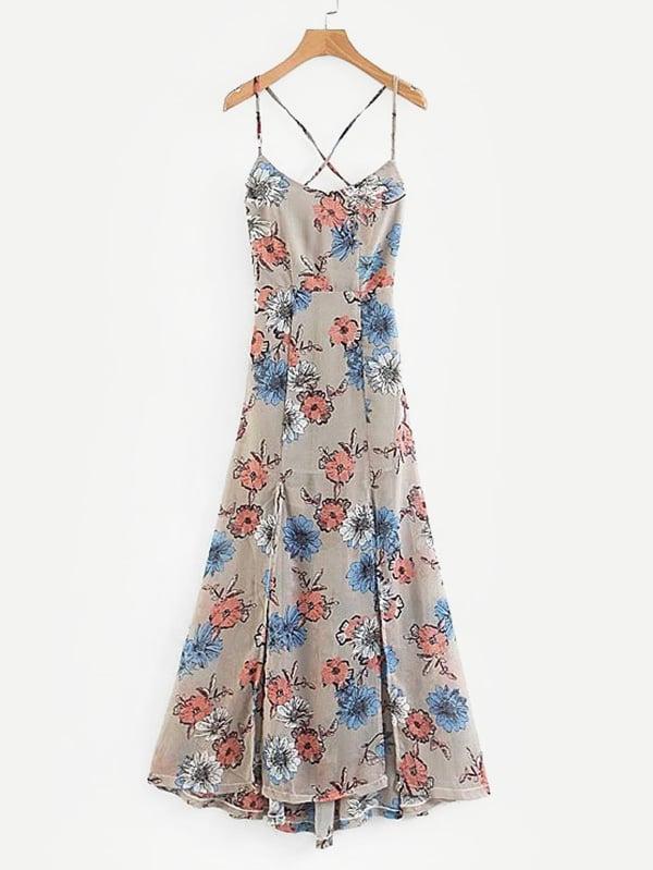 All Over Florals M-Slit Dress all over florals m slit dress