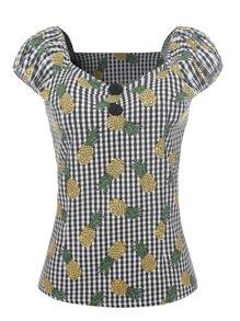 Pineapple Print Gingham Top