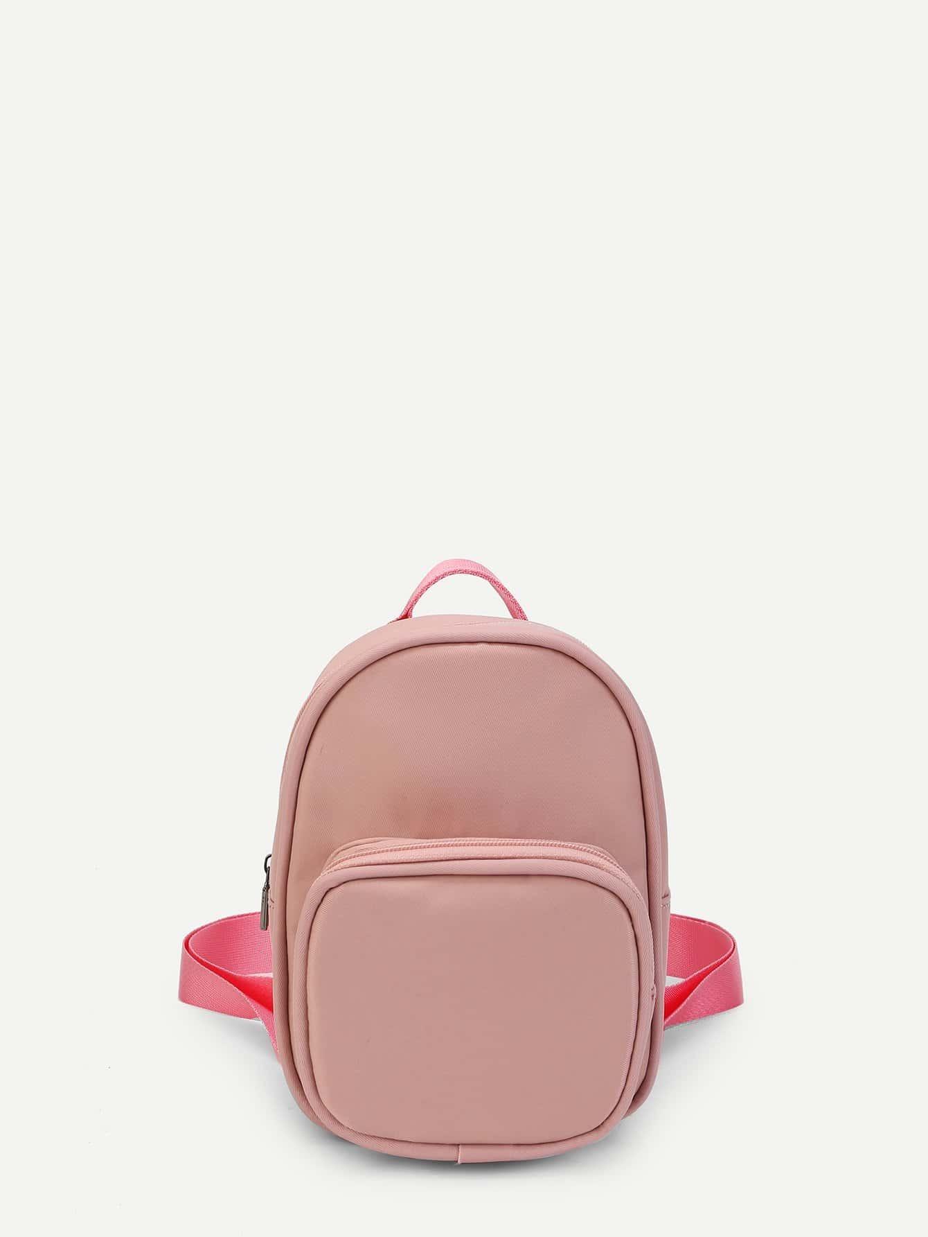 Letter Detail Pocket Front Backpack