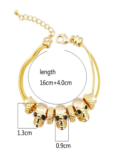 Skeleton Design Layered Bracelet