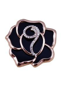 Rhinestone Rose Design Brooch