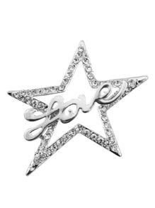 Hollow Star Design Brooch