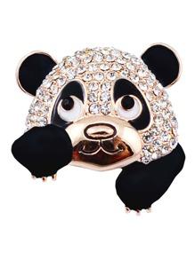 Panda Design Brooch