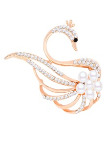 Swan Design Brooch With Jewelry