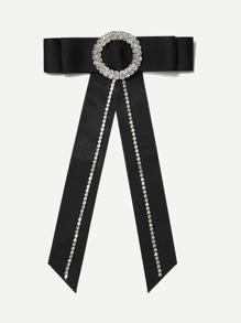 Rhinestone Bow Tie Pin