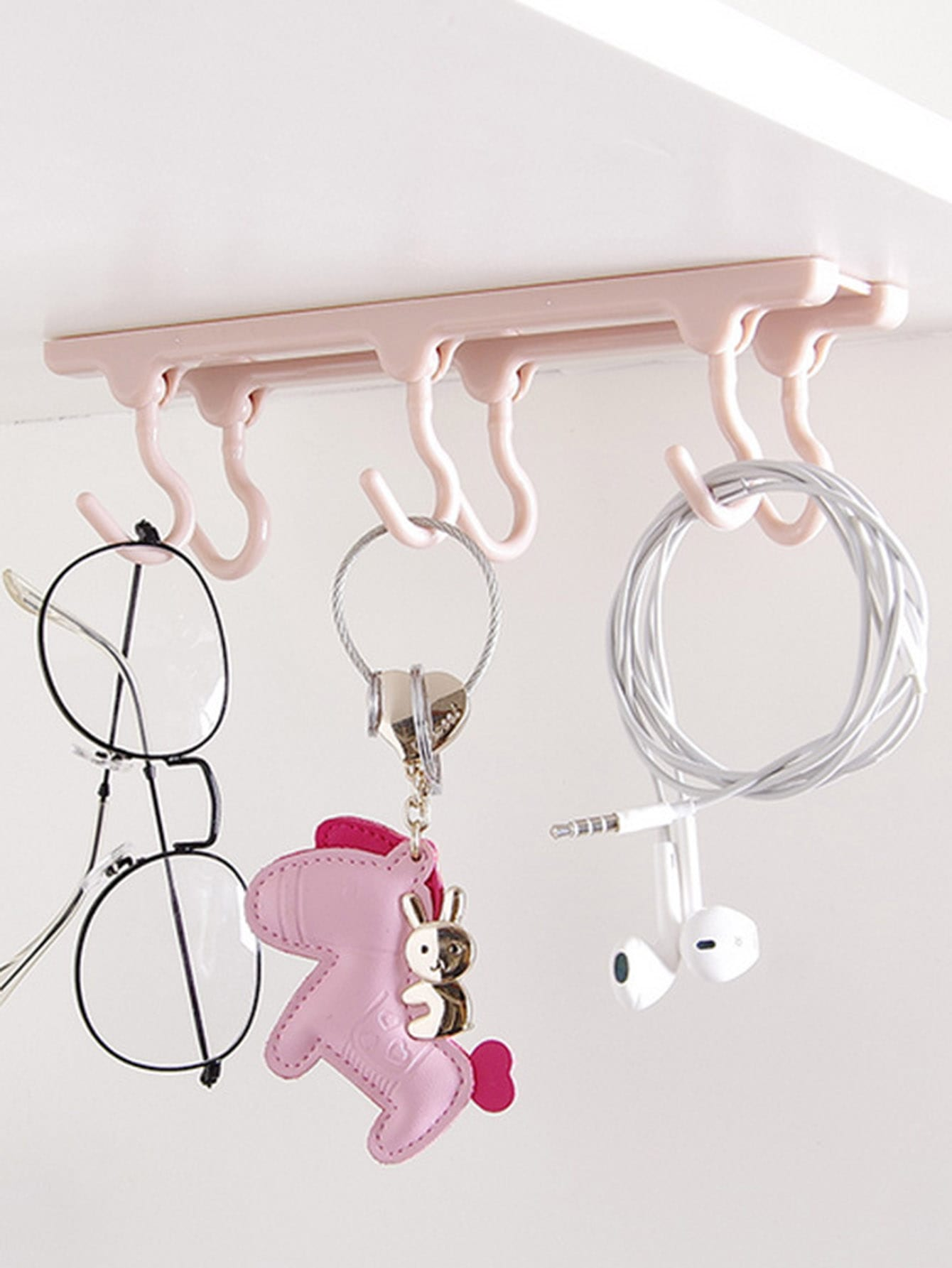 6 Hook Wall Mounted Rack 51cm household ornament shelf wall commodity shelf wall mounted hook wall bracket