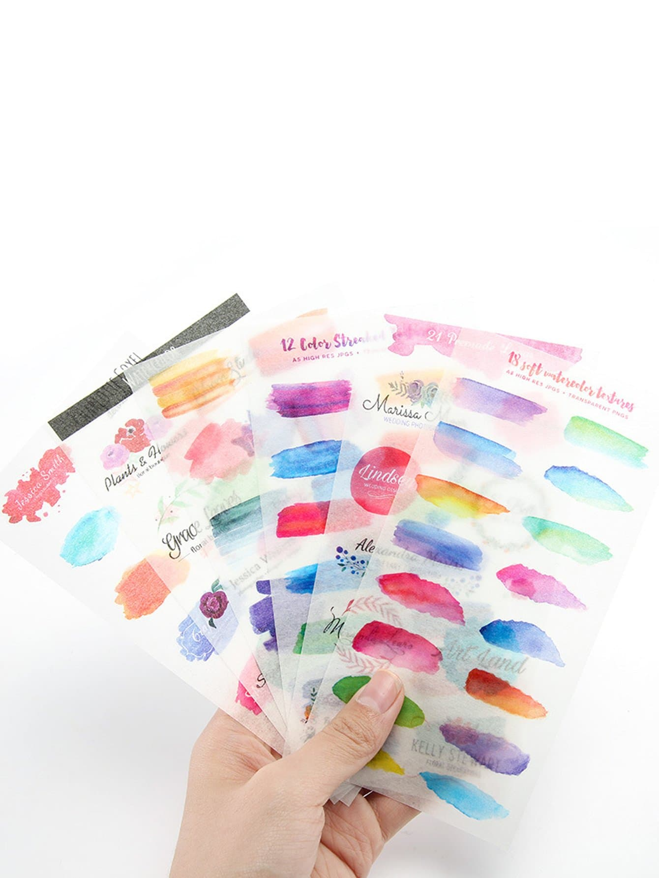 Watercolor Sticker 6 Sheet