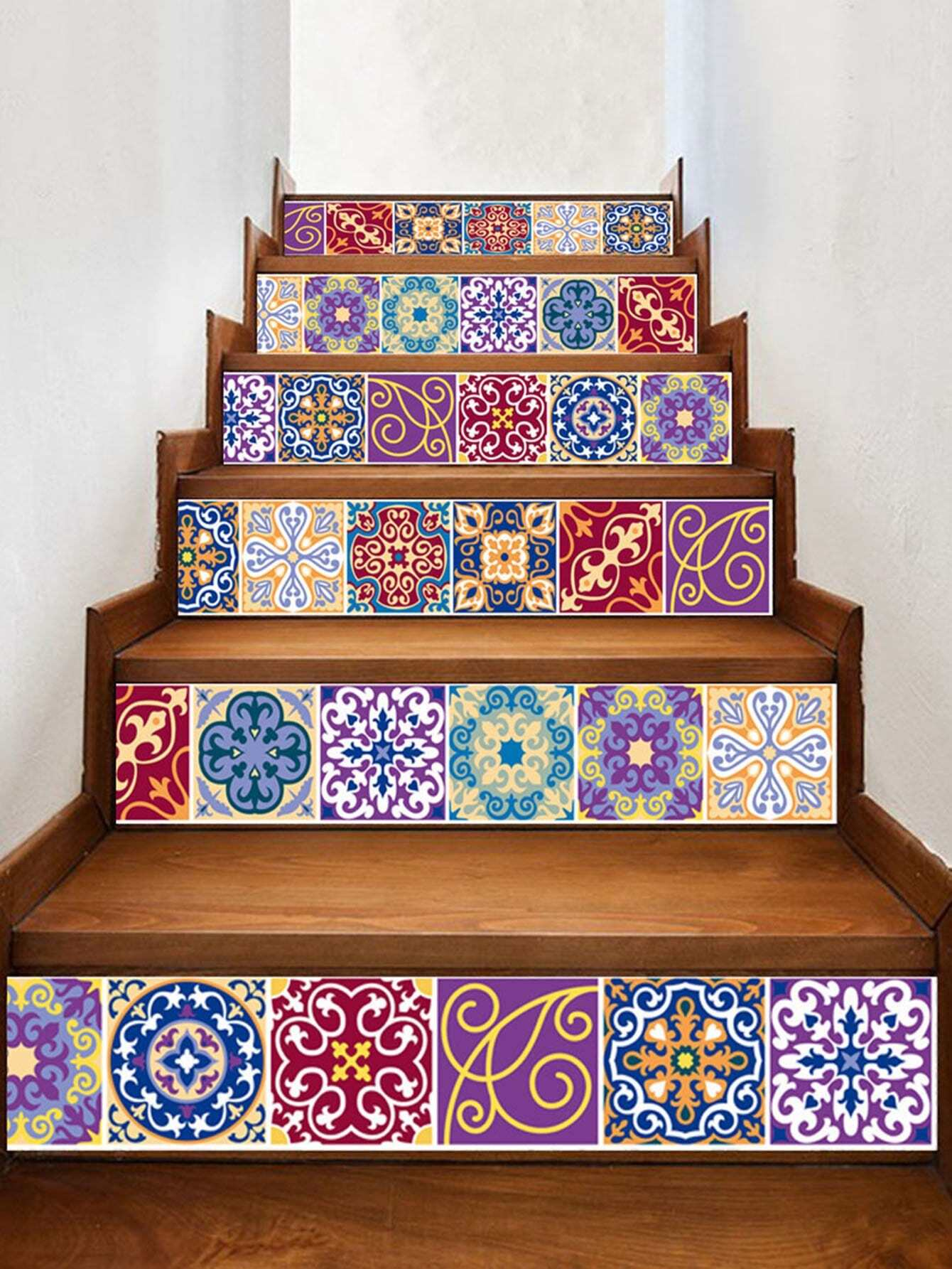 Stairs Tile Sticker 6pcs sea wave stairs sticker 6pcs