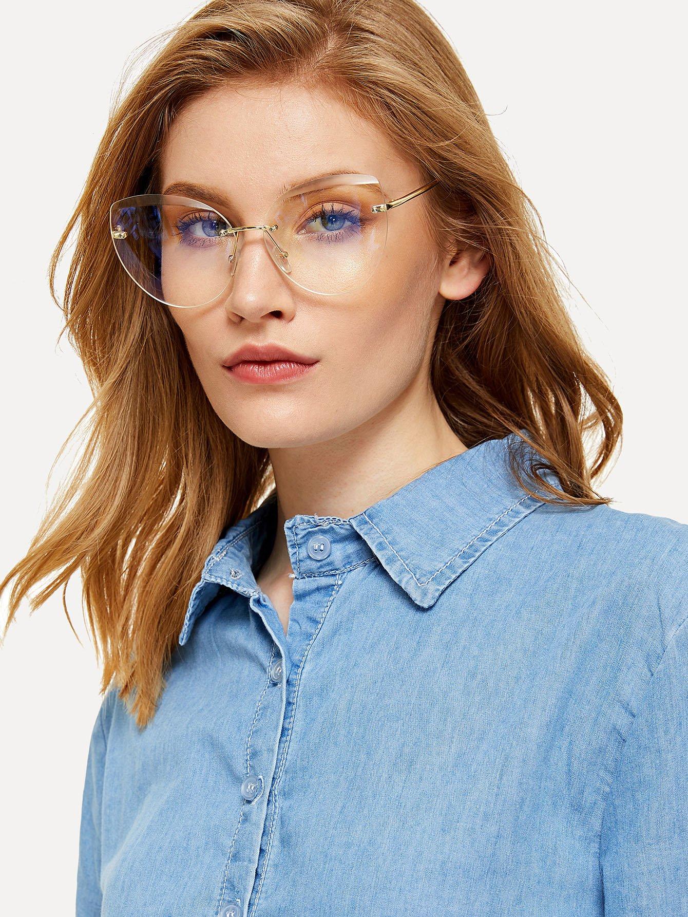 Rimless Cat Eye Glasses cat eye glasses tinize 2015 tr90 5832