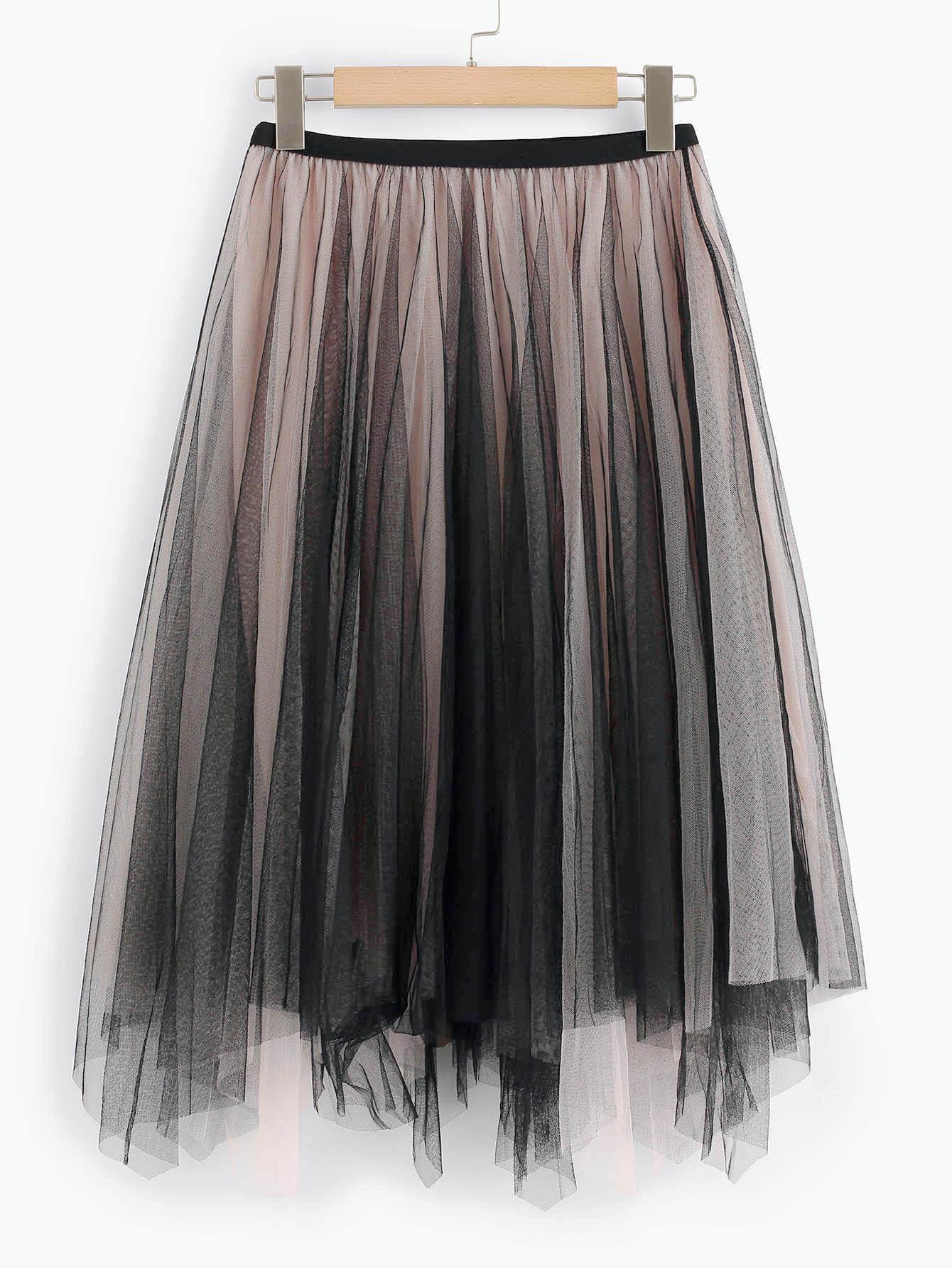 Купить Ассиметричная юбка, null, SheIn