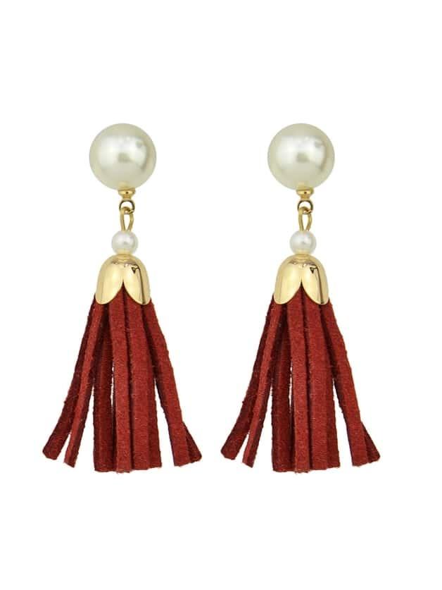 Enamel Bowtie Shape Earrings