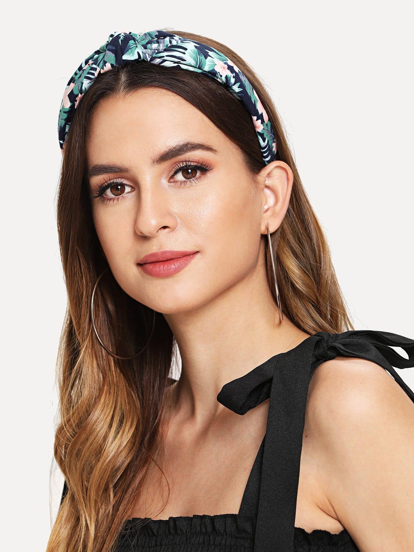Leaf & Flower Print Headband