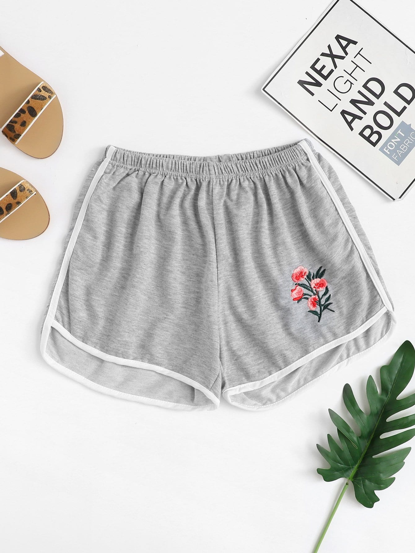 Striped Tape Side Embroidery Shorts