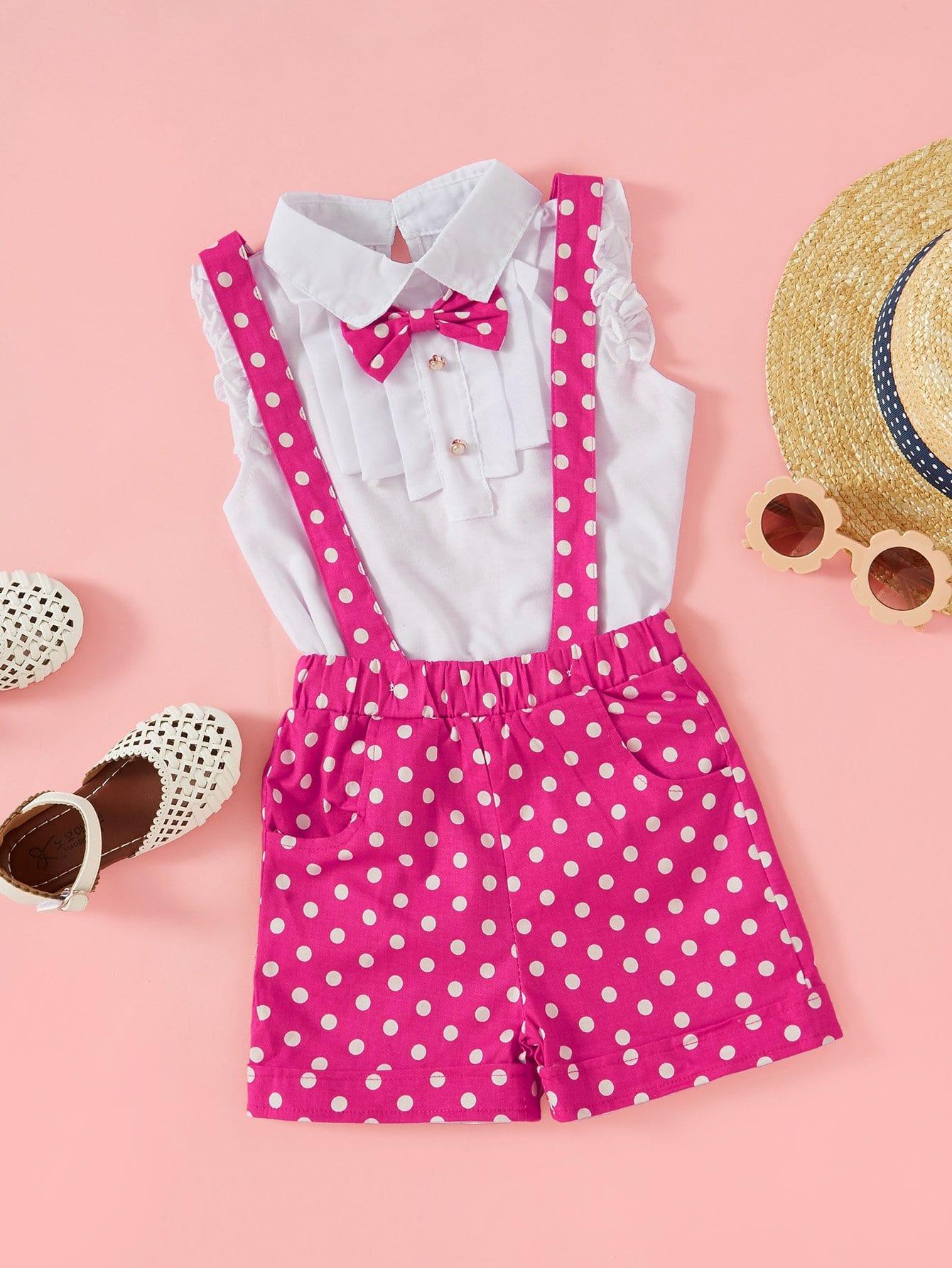 Небольшие точки Розовый Комплекты одежды для девочек из 2 вещей от SheIn