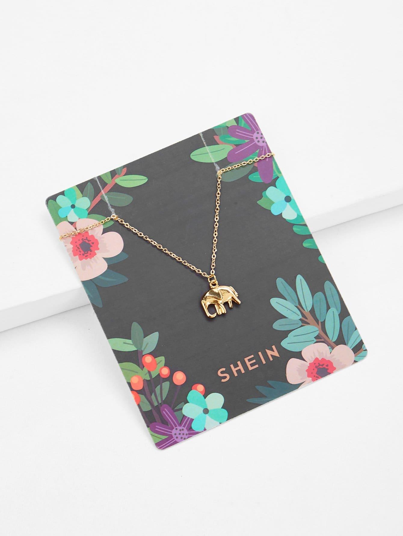 Золотые животное Повседневные Ожерелья от SheIn