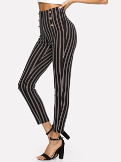 Double Breasted Pinstripe Pants