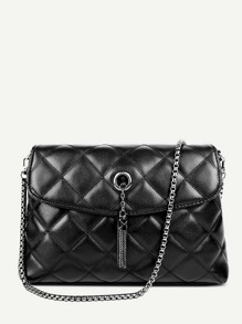Quilted Detail Tassel Chain Bag