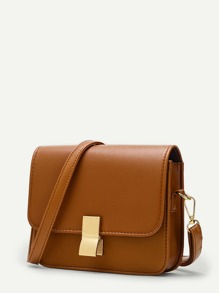 Metal Lock Crossbody Bag