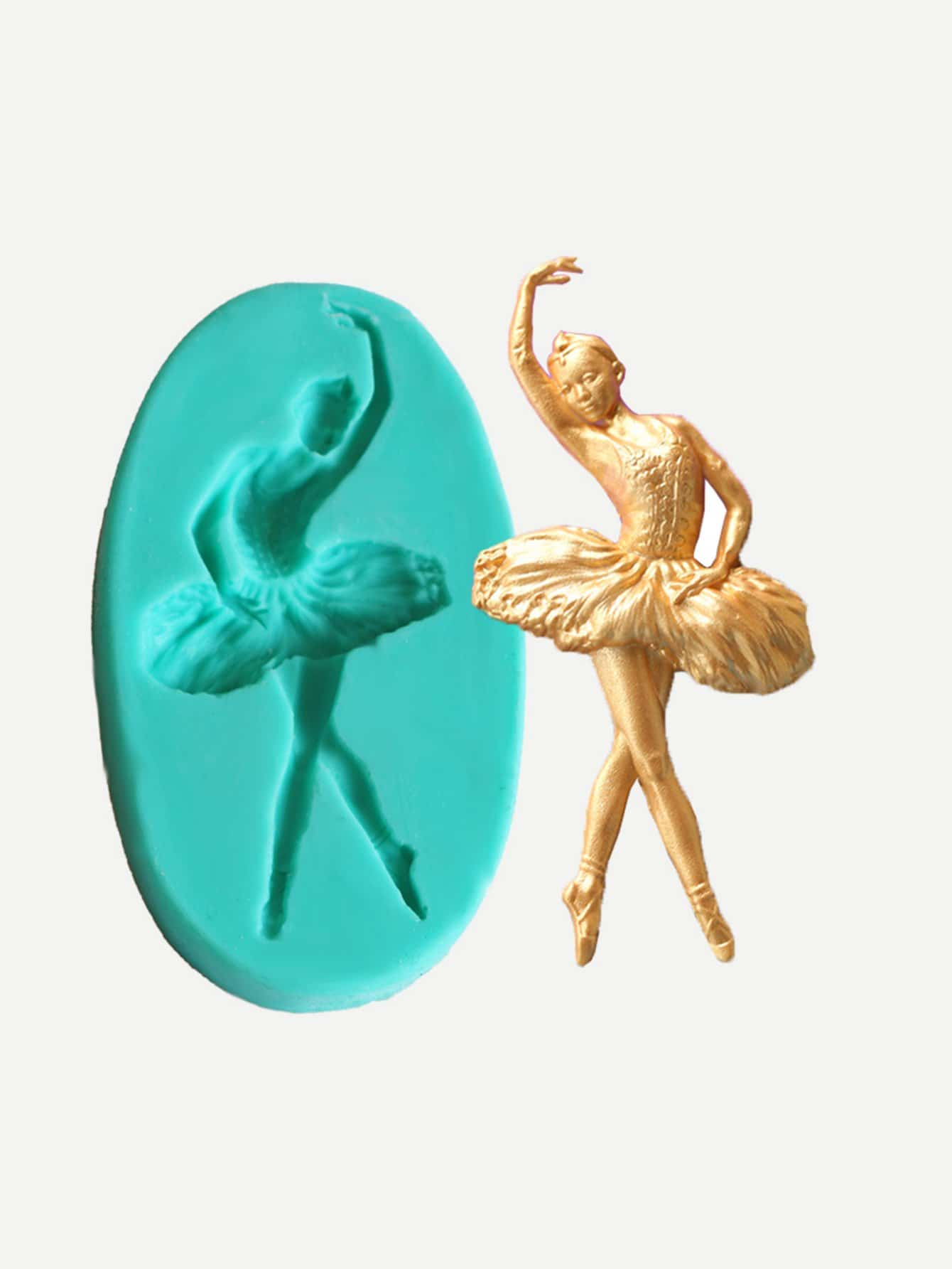 Ballet Dancer Silica Gel Mold ice cream silica gel mold