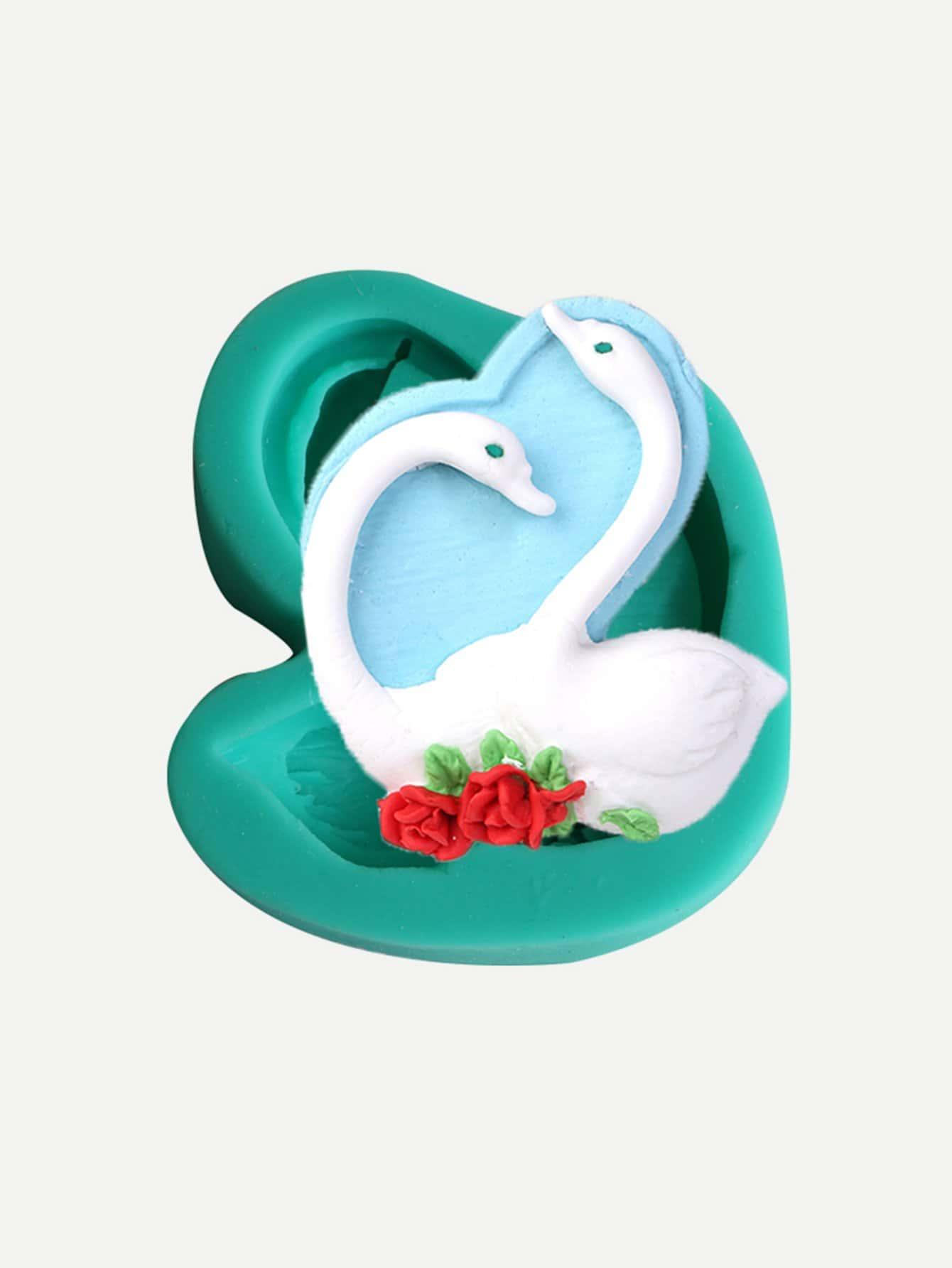 Силиконовая форма лебедь