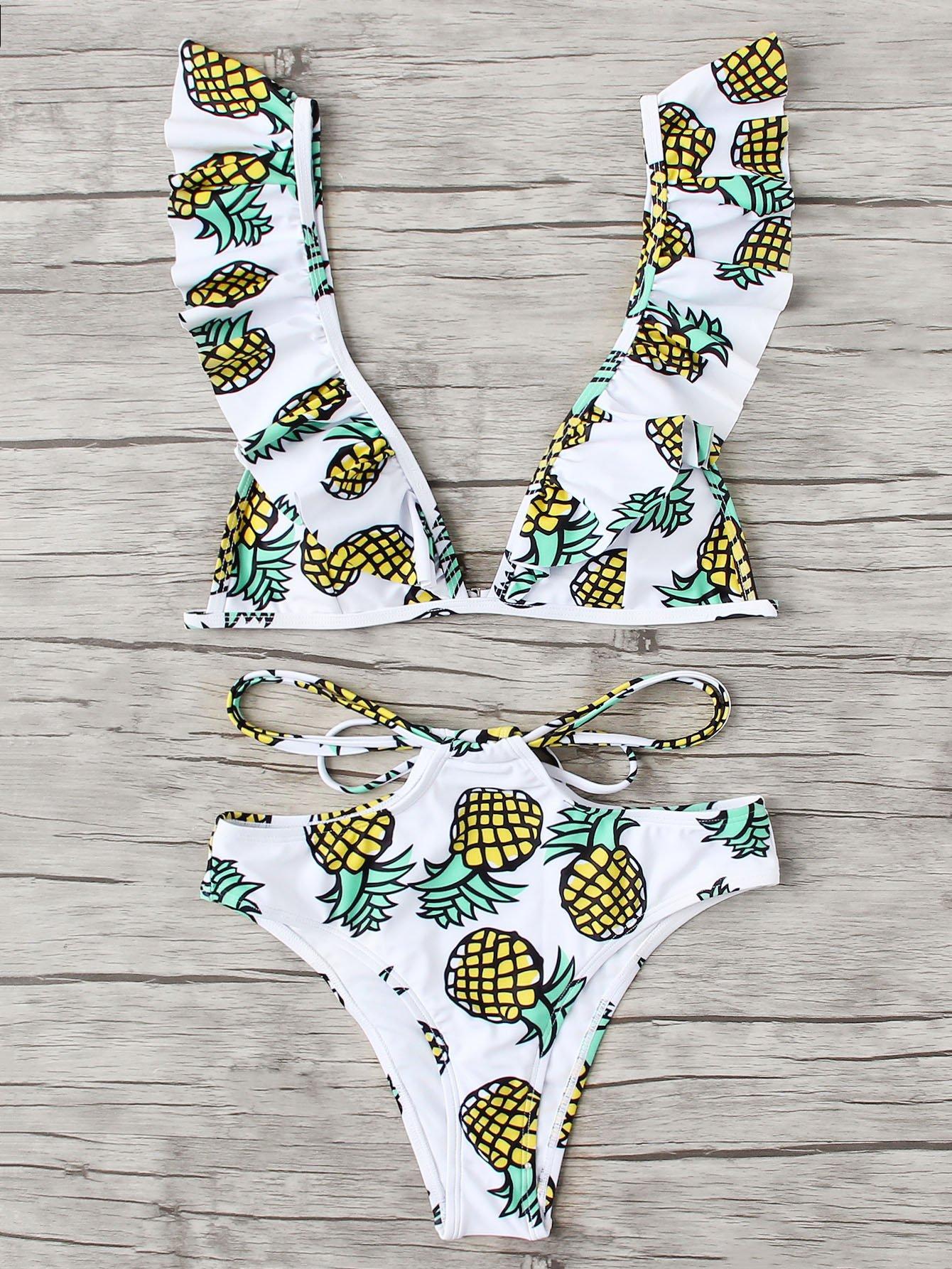 Купить Комплект бикини для печати ананаса, null, SheIn