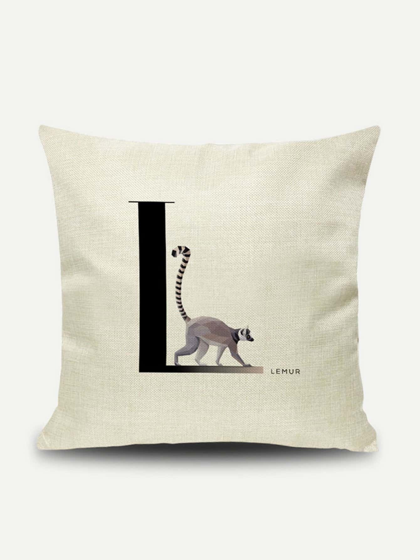 Lemur Print Pillow Cover baby animals take a bath