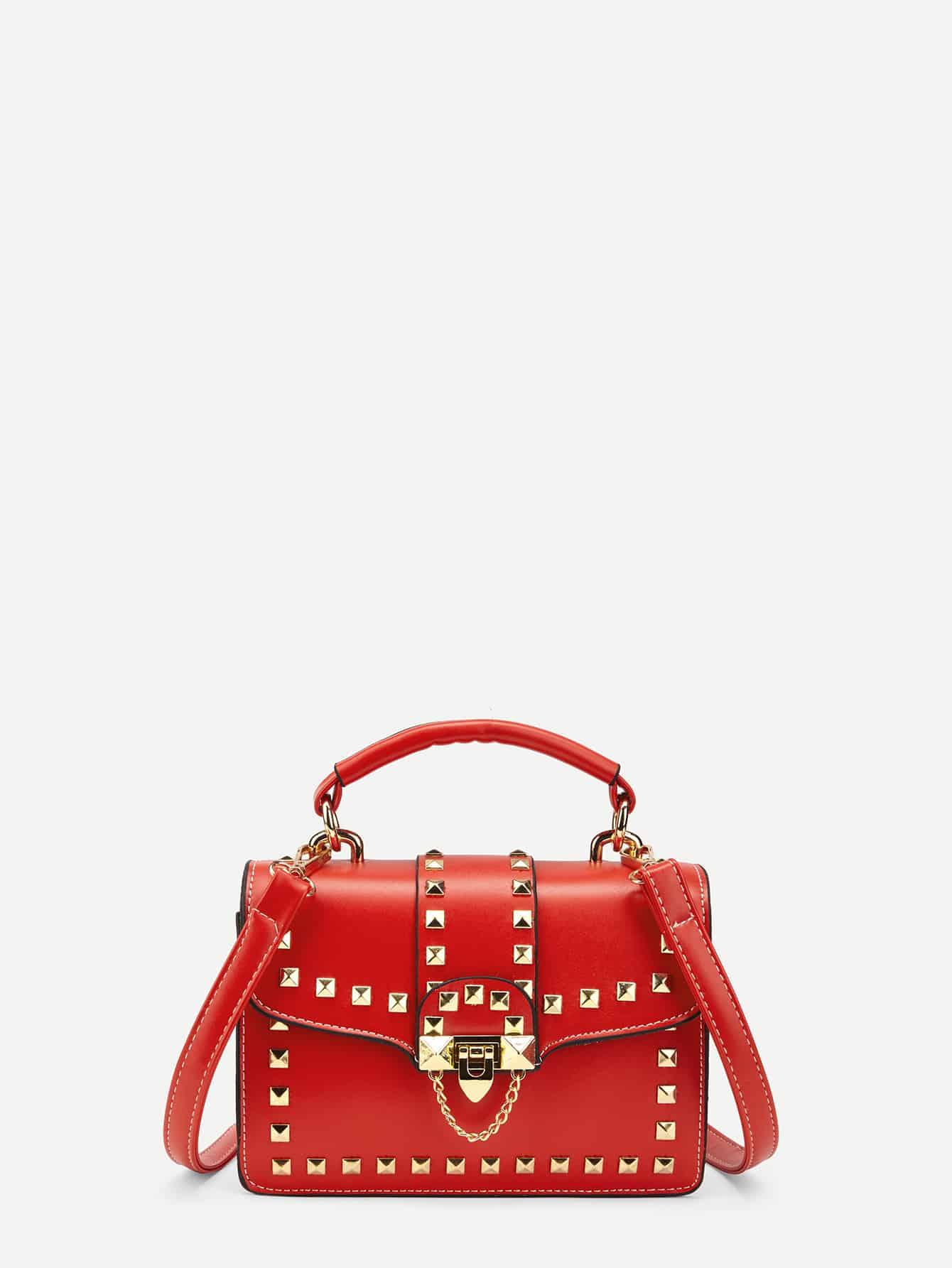 Studded Decorated PU Crossbody Bag studded decorated pu bum bag