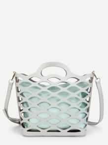 Cut Out Shoulder Bag With Inner Pouch