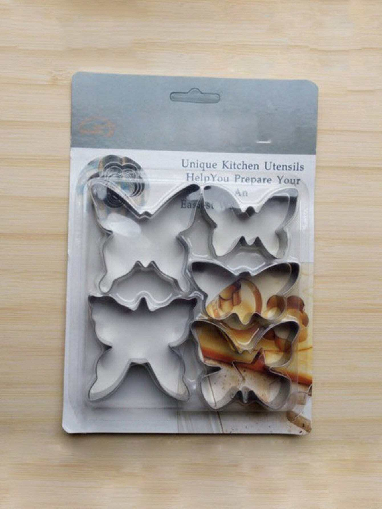 Stainless Steel Butterfly Cookie Cutter 5pcs stainless steel abs diy cookie cutter silver
