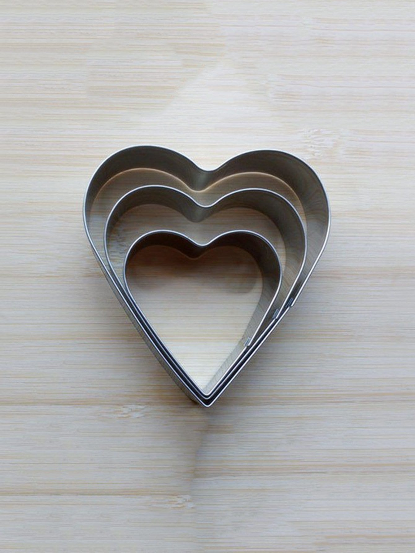 Stainless Steel Heart Cookie Cutter 3pcs 3pcs stainless steel snowman cookie cutter cake biscuit decorating tool