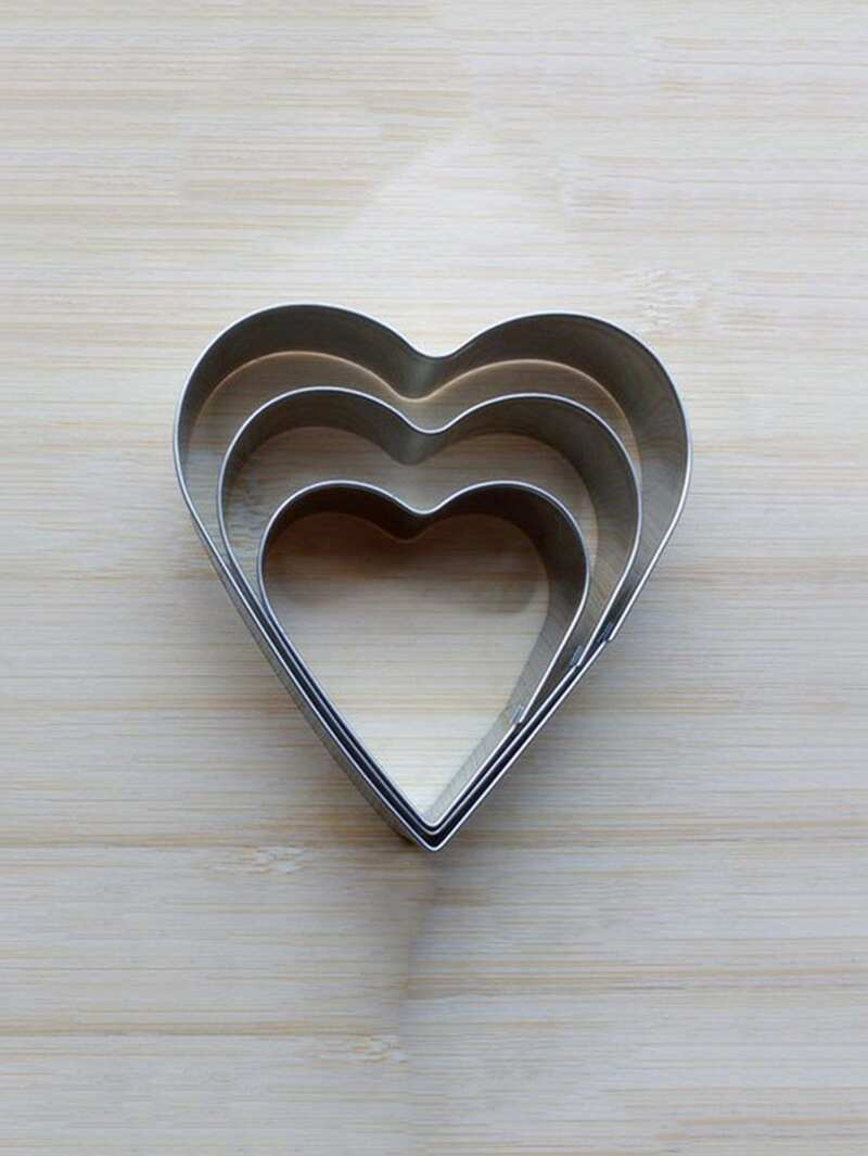 Stainless Steel Heart Cookie Cutter 3pcs