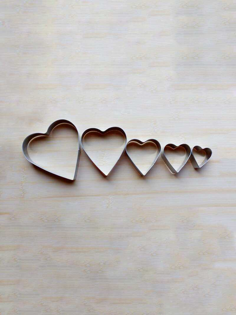 Stainless Steel Heart Cookie Cutter 5pcs
