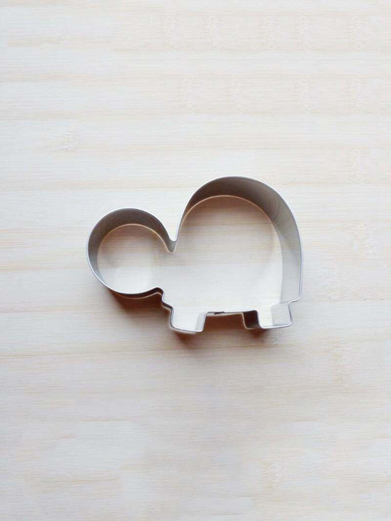 Stainless Steel Tortoise Cookie Cutter 1pc