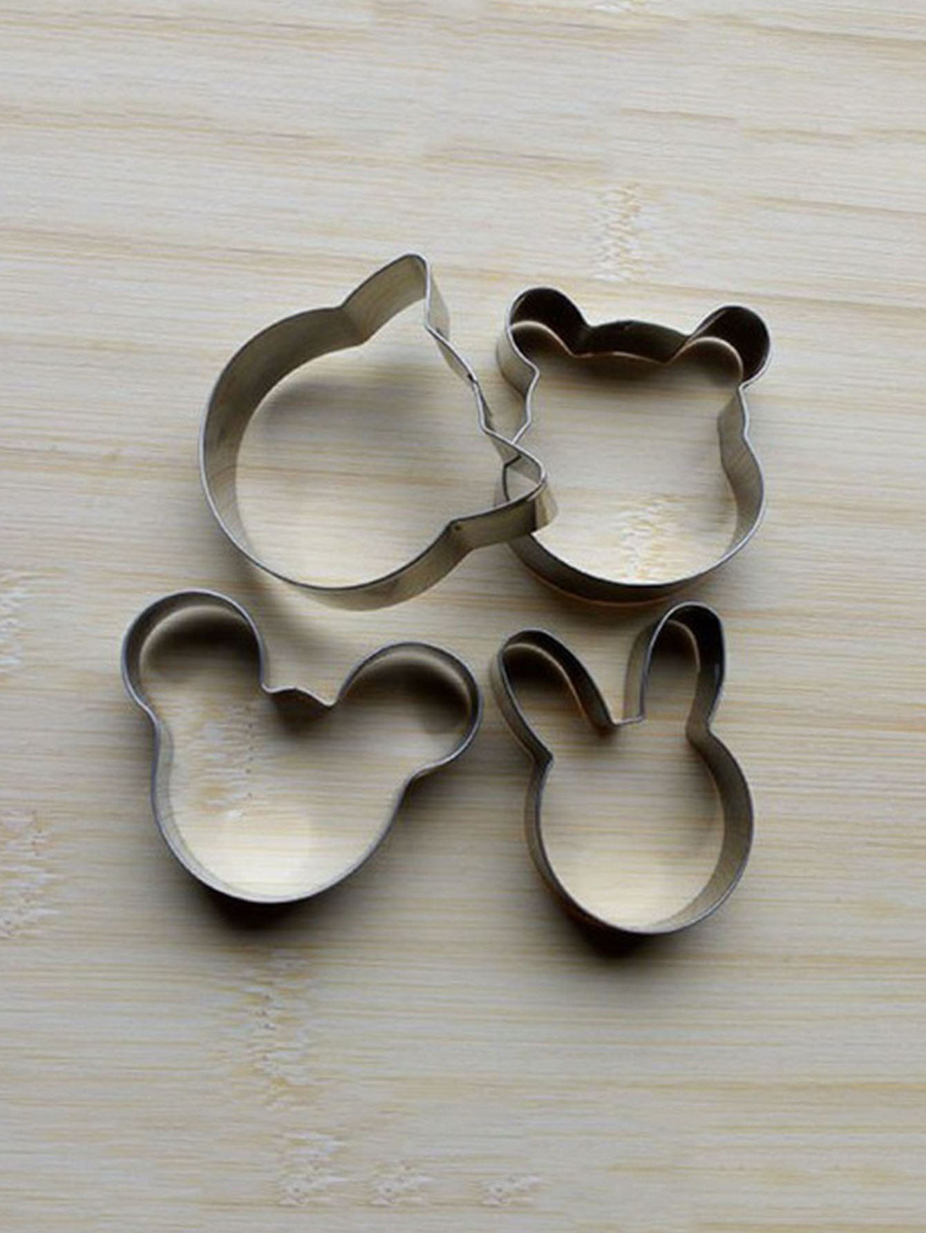 Stainless Steel Animal Cookie Cutter 4pcs stainless steel abs spring cookie cutter blue silver