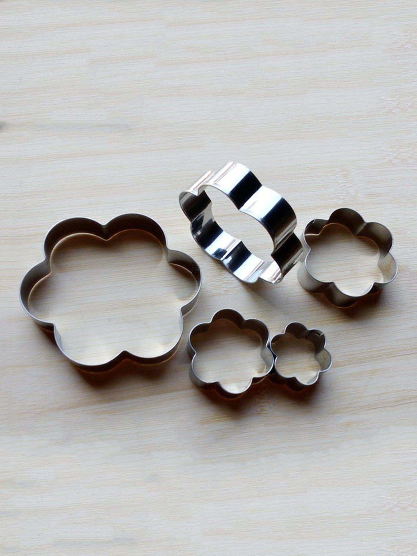Stainless Steel Flower Cookie Cutter 5pcs stainless steel tree cookie cutter