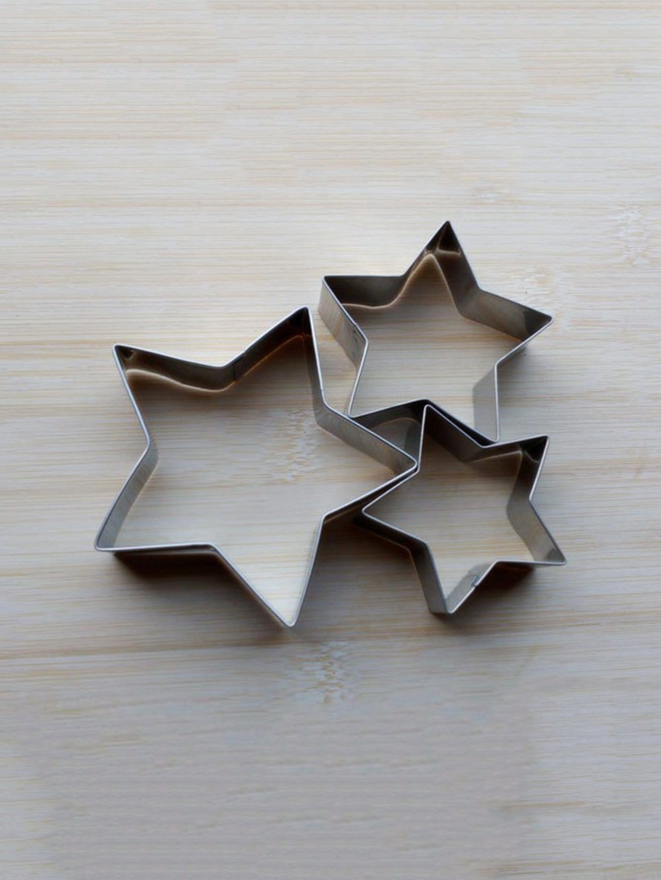 Stainless Steel Star Cookie Cutter 3pcs 3pcs stainless steel snowman cookie cutter cake biscuit decorating tool