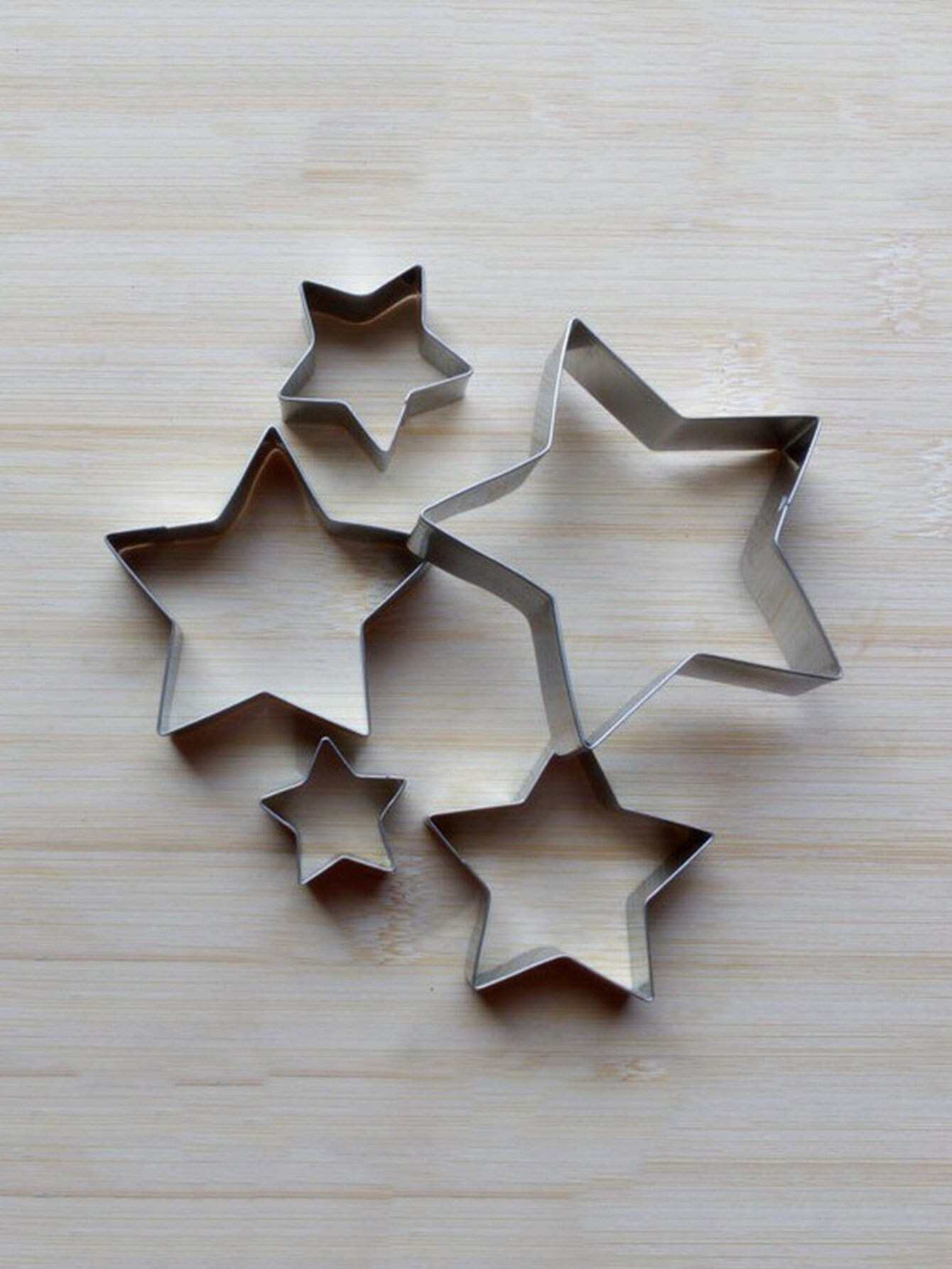 Stainless Steel Star Cookie Cutter 5pcs stainless steel star cookie cutter