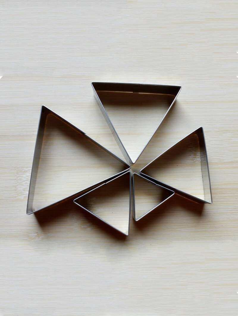 Stainless Steel Triangle Cookie Cutter 5pcs
