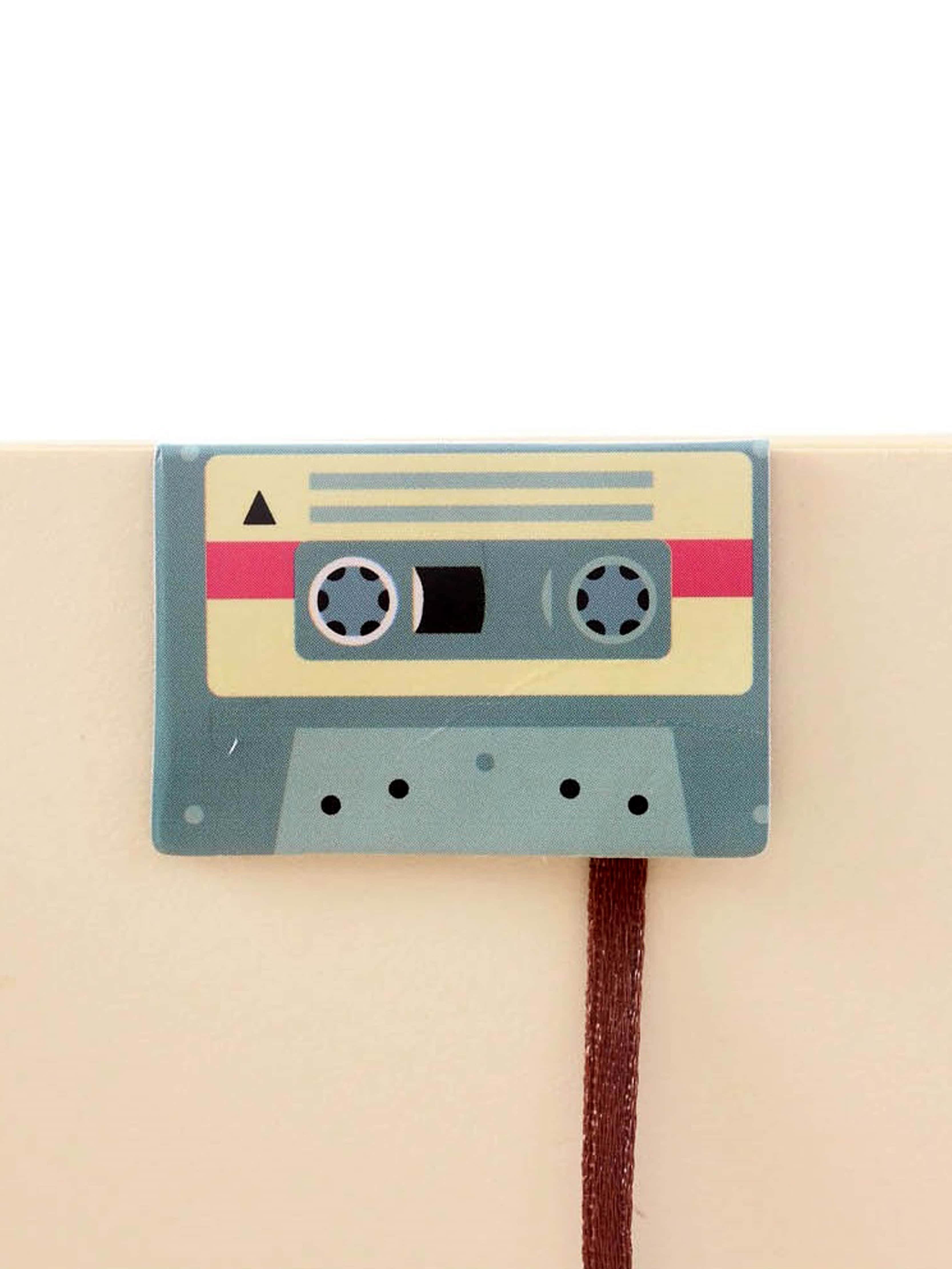 Music Tape Shaped Bookmark full page bookmark magnifier